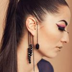 Style Name:Beads Long Tassels Ear Cuff Color:Black,as picture show.  Size:20cm Shipment:Free Shipping Quantity:1pc/set Sales model:mix order.