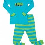 Leveret Kids & Toddlers Boys Garbage Truck 2 Piece Cotton Pajama Set (6M-14Y