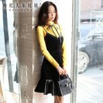 original dresses women 2017 new autumn winter korean fashion vintage  temperament velvet dress female wholesale