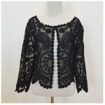 Black Joana Baraschi Silk Lace Jacket