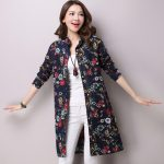 Dresses online spring Fashion Women Long Shirt Arts Style Loose Casual  cotton linen Blouses Vintage Print