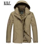 LILL | Mens Military Waterproof Jacket Coat Men Spring Army Style Outerwear  Hooded Camouflage Windbreaker Tactical