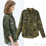 New Military Jacket Women Slim Camouflage Veste Militaire Femme Women Basic  Coats 6CT004 Womens Leather Jacket Suede Jacket From Ellenstore, $21.7|  DHgate.