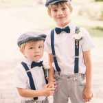 vintage look ring bearers for rustic garden wedding ideas