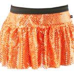 Orange Sparkle Running Skirt