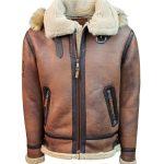 Top Gun® Premium Wool Blend Shearling Coat