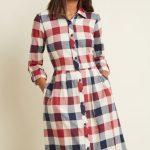ModCloth Jam, Girl Shirt Dress in Mixed Berry BUFFALO PLAID
