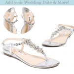 "Flat Wedding Shoes -""Patent-Pending"" personalization - Silver wedding  sandal - Style"