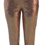 RRINSINS Womens Sequin Pants Sports Sport Trousers Casual Pants Elastic  High Waist Pants 1 XS