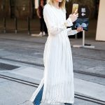 Browse the best summer street style outfit ideas at Stylecaster | white  maxi dress* jeans* gold loafers