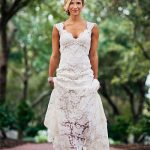 Elegant Full Lace Wedding Dress 2018 Open Back Sleeveless Summer Wedding  Gowns 0