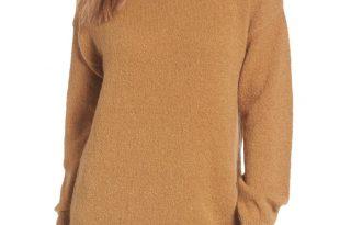 Bouclé Turtleneck Tunic Sweater
