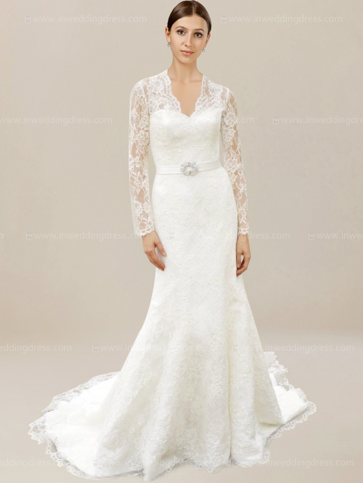 Bridal Gown with Lace vintage wedding dress