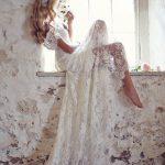 Discount MANSA 2015 Vintage Lace Wedding Dress With Cap Sleeves Bohemian  Beach Wedding Gown Backless Long Bride Dresses Vestido De Noiva Vintage  Wedding