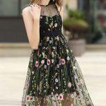 TC5 Black Ashley Gauze Embroidered Dress #WesternDress #Fashion Flower  Dresses, Beach Dresses,