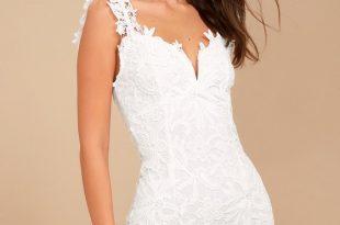 Uno, Dos, Lace White Lace Bodycon Dress