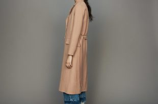 Long double-faced wool coat : Coats & Jackets color Camel