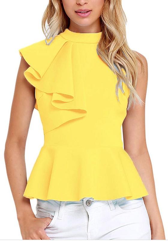 yellow blouses
