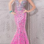 amazing Bejeweled low-cut keyhole floor length mermaid gown Purple Dresses  Pink Dresses 001