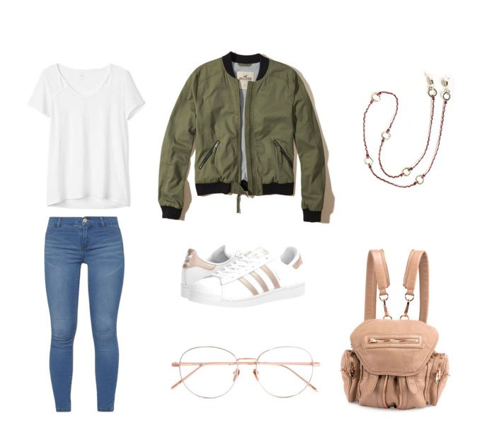 if you are looking for a casual and simple yet cool outfit. I love this  eyeglass chain by Wakami because it adds a girly vibe to the whole thing.