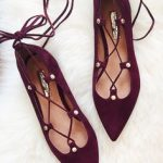 Burgundy lace up flats Flat Shoes, Shoes Heels Boots, Flat Sandals, Sock  Shoes