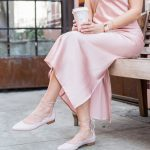 Sydne Style shows the best lace up ankle flat shoes in pink from talbots