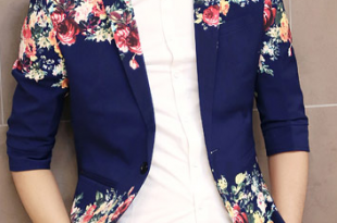 The printed blazer is looking very different looking for any parties and  weddings.