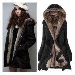 Zicac Women`s Thicken Fleece Faux Fur Warm Winter Coat Hood Parka Overcoat  Long Jacket Christmas gift (US0 to  $68.00