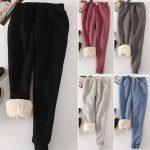 Image is loading Women-039-s-Pants-Loose-Soft-Warm-Winter-