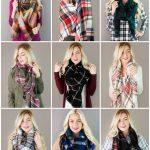 lowest price plaid blanket scarves