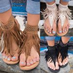 Image is loading EP-Women-Bohemian-Tassel-Fringe-Chic-Beach-Faux-