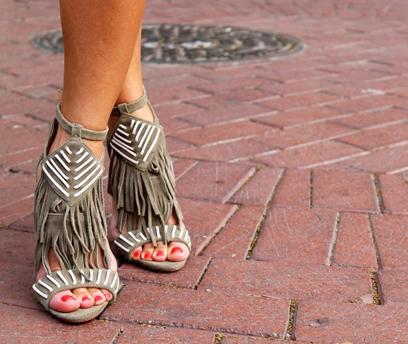 Bohemian Chic Fringed Sandals