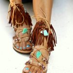 #bohemian #chic #shoes #sandals #feet #boho #fringe