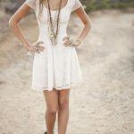 dress white dress summer summer dress girly jewels shoes country whrite  dress cute dress beach dress