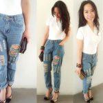Jennifer Mendy - 24.95 Boyfriend Jeans, 24.95 White Top, 24.95 Ethnic  Bangle - Pure