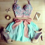 Cute Summer Outfits Tumblr with bustier tops | tumblr shoes skirt belt tank  top studded phone case clothes bustier  | Summer Fashion | Outfits