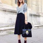 Repin Via: Junko Nakase Skirt + Pullover #keylookforfall