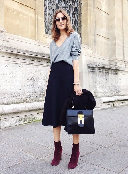 Casual Ways To Wear Skirts With Ankle Boots