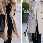 Two woman wearing trench coats