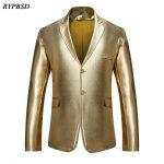3 Colors New 2019 Fashion Autumn Men Blazer Designs Solid Color Single  Breasted Blazer Men Casual