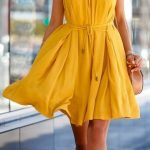 Summer #outfit #ideas / cute yellow dress