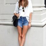 Denim Shorts and a White Shirt - Classic Summer Street Style Combo (3)