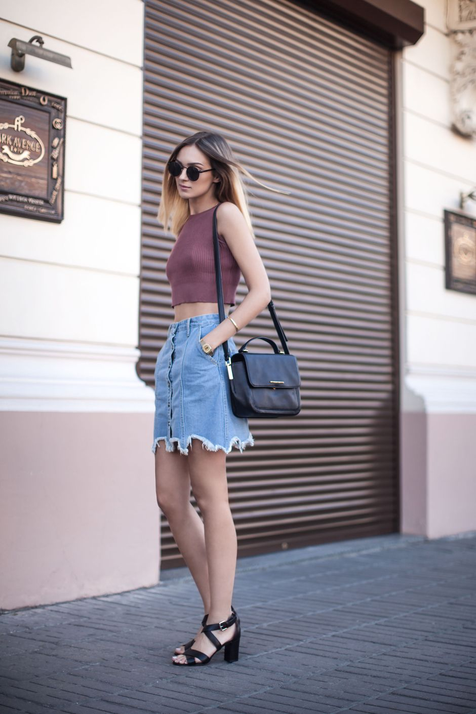 Denim Skirts Outfit Ideas
