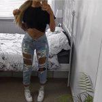jeans ripped ripped jeans distressed denim denim instagram tumblr