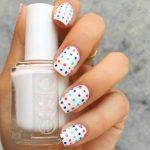 cute polka dot nail design for the summer DIY polka dots nail art ideas