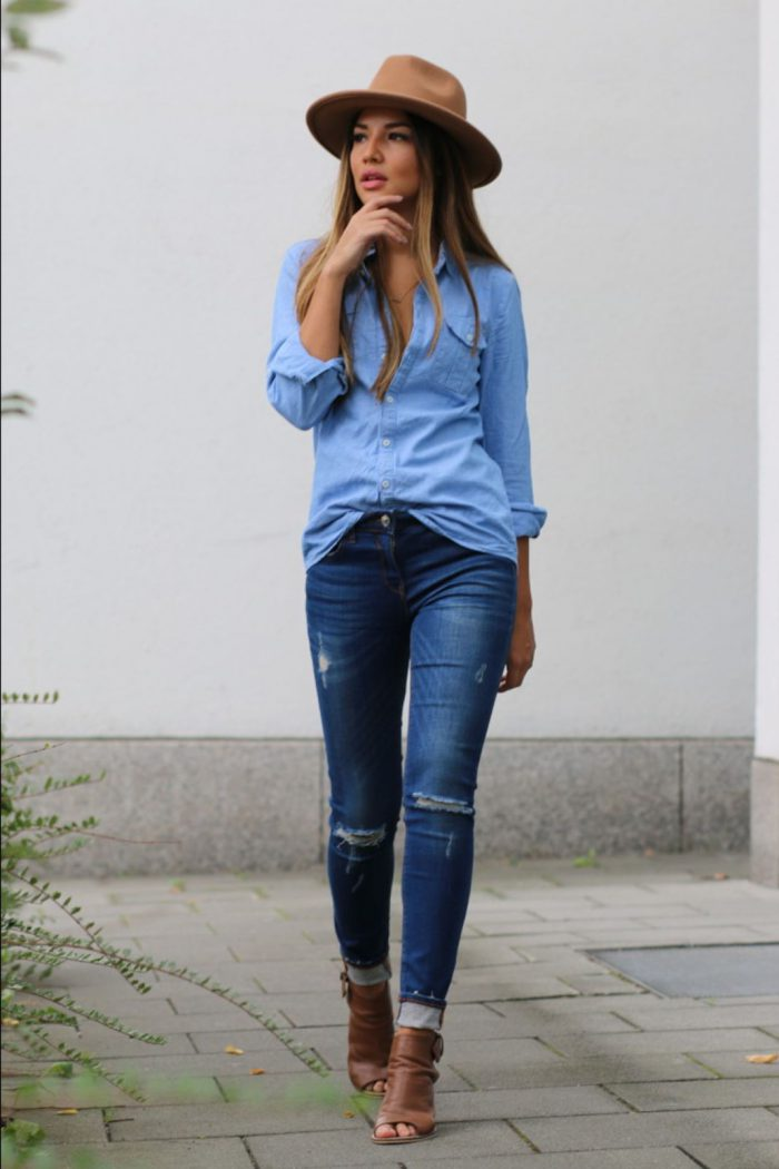 35 Ways to Wear Denim on Denim Trend 2019