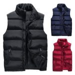 Image is loading 2018-Men-Winter-Down-Quilted-Vest-Body-Warm-