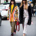MILAN, ITALY - FEBRUARY 24: Laura Comolli and Elisa Taviti are seen outside  Giorgio