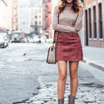 Bringing the Mini Skirt Trend Into Fall