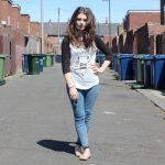 Chloe W - Urban Outfitters Baseball Tee, Topshop Jeans, Topshop Ballet Flats  - Baseball Tee | LOOKBOOK
